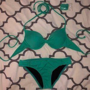 Hurley Teal Push-Up Bikini